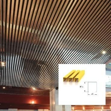 Реечный потолок кубообразного дизайна цена